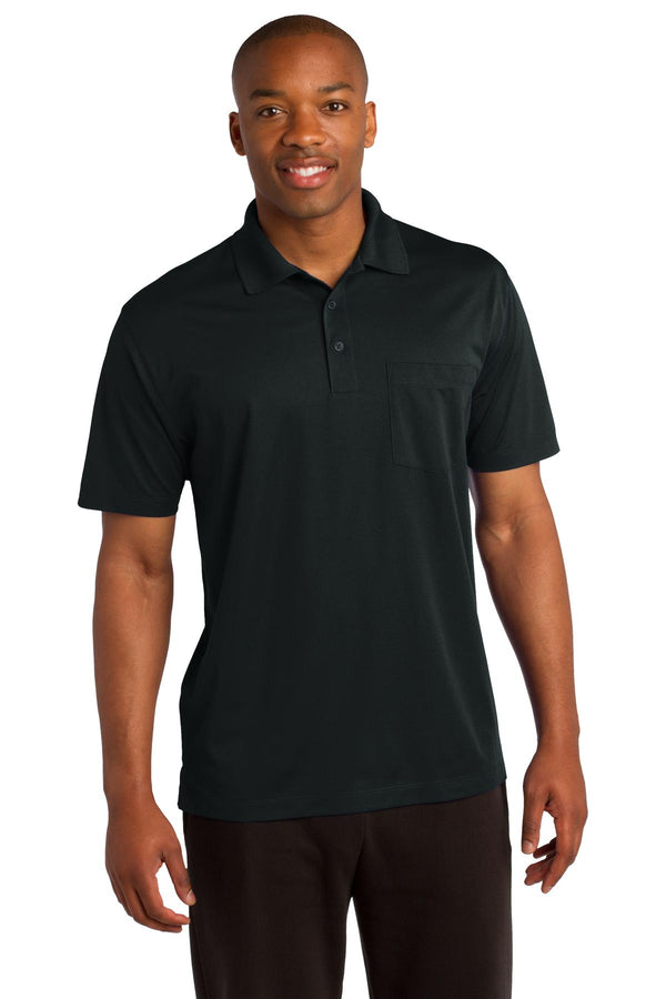 Sport-Tek® Micropique Sport-Wick® Pocket Polo. ST651