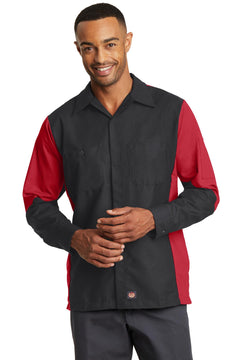 Red Kap® Long Sleeve Ripstop Crew Shirt. SY10