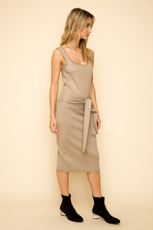 Porscha Metallic Knit Dress