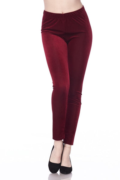 Holiday Corduroy Leggings in Missy & Curvy Sizes