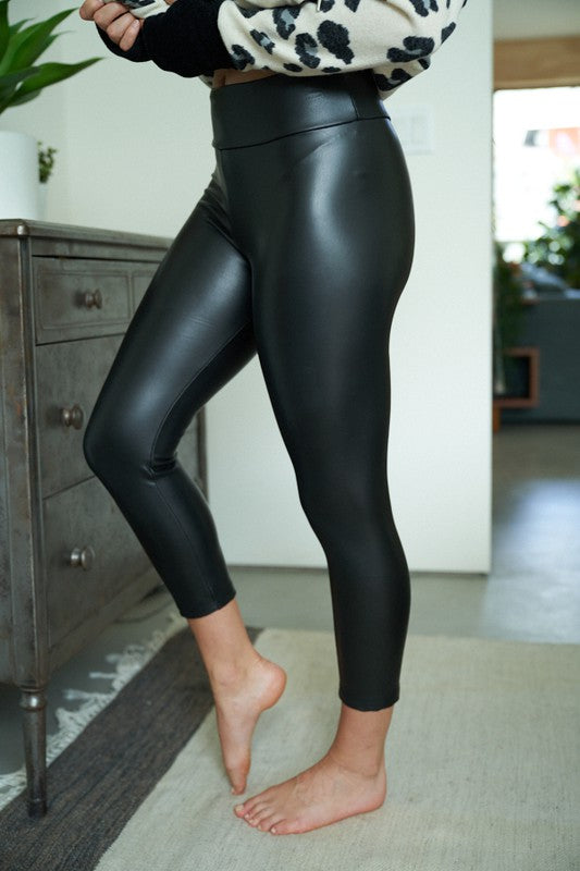 Alexa Leather Capri Leggings
