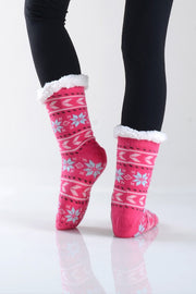 Winter Sherpa Lined Slipper Socks