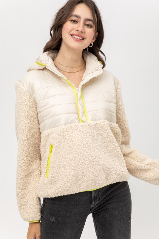 Babette Sherpa Hooded Pullover