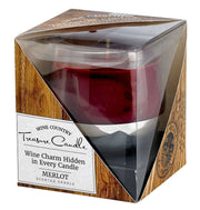 DecoBreeze - Wine Treasure Candle - Red - Luxe Boutique