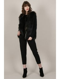 Dorinda Fur Vest - Luxe Boutique