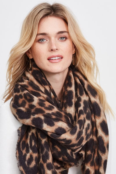 Leopard Thick and Soft Oversized Scarf - Luxe Boutique