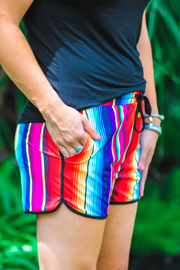 San Antonio Serape Shorts - Luxe Boutique