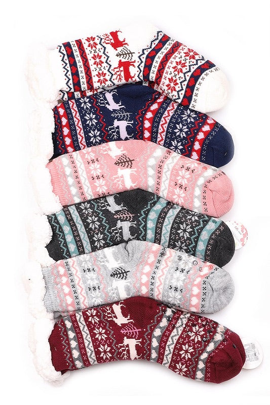 Sherpa Lined Slipper Socks - Luxe Boutique