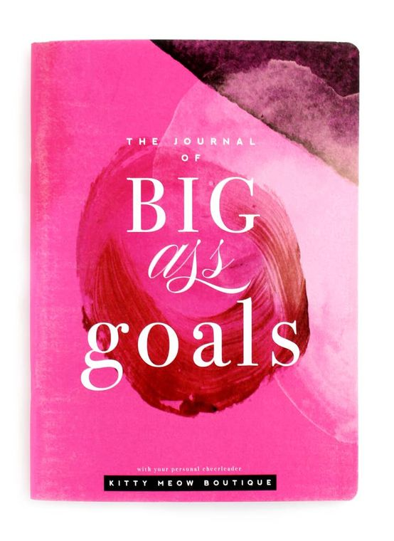 Hot Pink Notebook, BIG GOALS, Inspirational Notebook