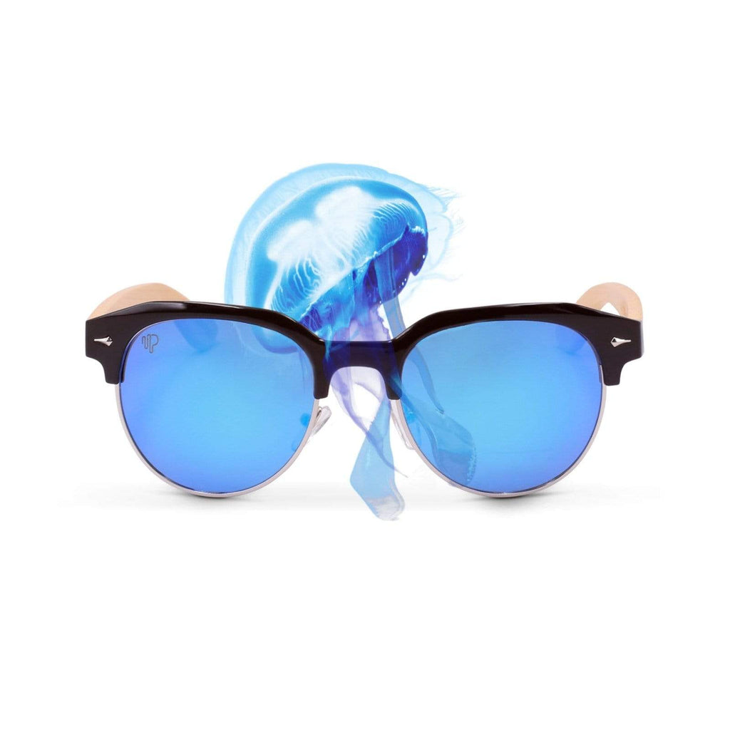 PULSE SUNGLASSES MOON JELLYFISH Shop online for blue lens Polaroid Sunglasses | MOON JELLYFISH