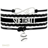 Softball Infinity Love Bracelet