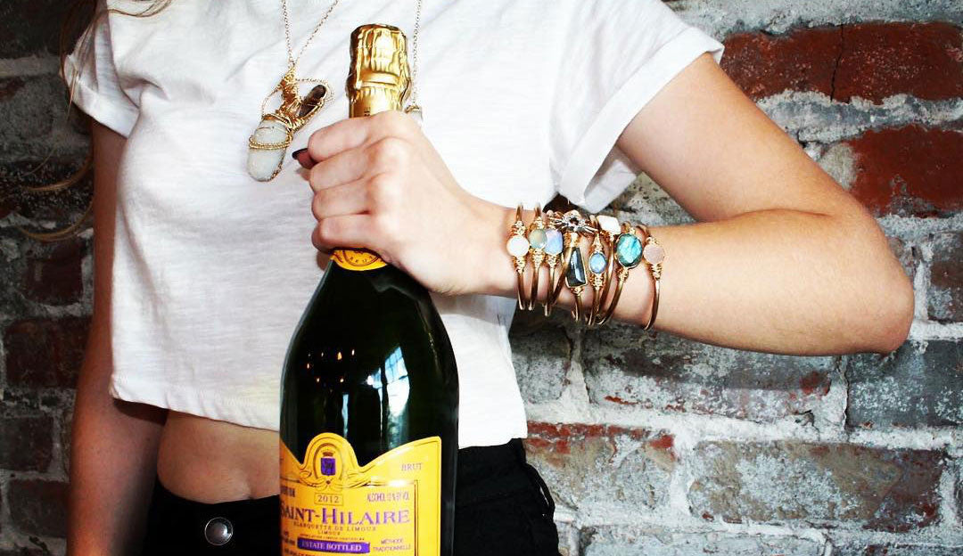 Drink Up! Enjoying a beverage with stack enhancer bracelets - Jess Leigh Jewels