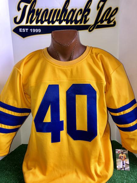 1950's STYLE YELLOW JERSEY - SIZE 2XL - HIRSCH #40