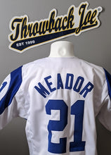 Load image into Gallery viewer, 1960's STYLE WHITE BASEBALL JERSEY w/ HORNS