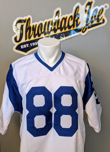 1960's STYLE WHITE JERSEY w/ HORNS - SIZE XL - HOLT #88