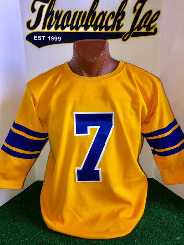 1950's STYLE YELLOW JERSEY w/ WHITE TRIMMED NUMBERS