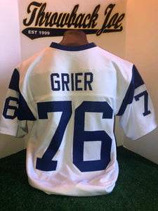 1960's STYLE WHITE JERSEY w / STRIPES - GRIER #76