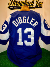 Load image into Gallery viewer, 1960's STYLE BLUE BASEBALL JERSEY w/ HORNS