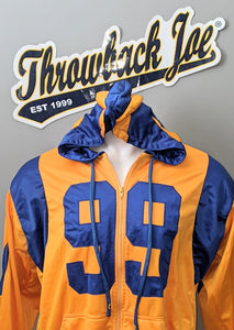 COLOR RUSH STYLE ZIP UP HOODIE