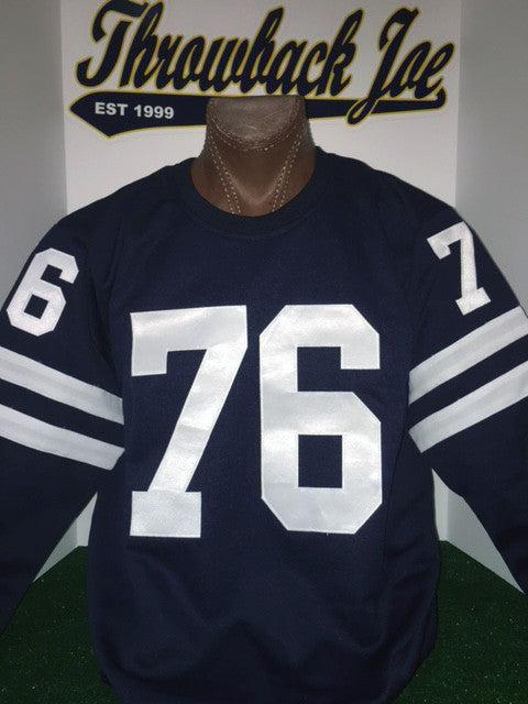 1960's STYLE AWAY DARK NAVY BLUE JERSEY w/ CREW NECK