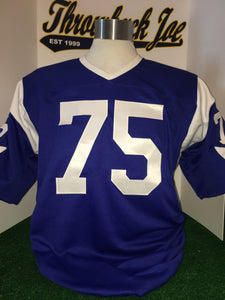 "1960's STYLE AWAY ALTERNATE JERSEY w/ HORNS & WHITE ""V"" NECK"