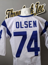 Load image into Gallery viewer, 1960's STYLE WHITE JERSEY w/ STRIPES - SIZE L - OLSEN #74