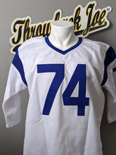 Load image into Gallery viewer, 1960's STYLE WHITE JERSEY w/ STRIPES - SIZE 3XL - OLSEN #74