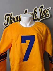 1950's STYLE YELLOW JERSEY - SIZE XL - WATERFIELD #7