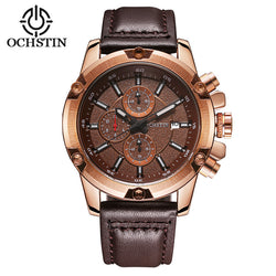 Men's Business Casual Quartz Leather Strap Watch