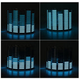 AUTO Sound Music Beat Activated Car Stickers Equalizer Glow Blue LED Light Audio Voice Rhythm Lamp