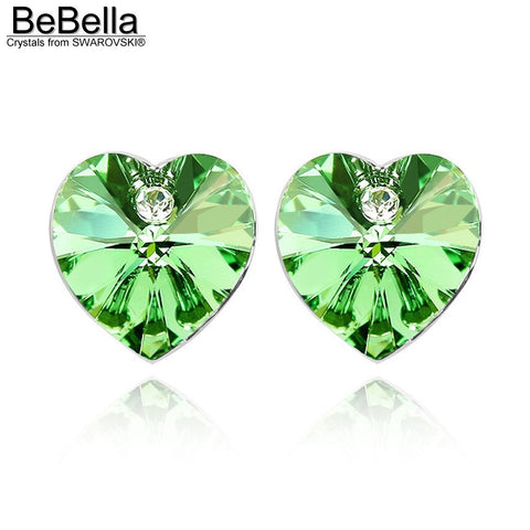 Swarovski Elements Crystal Heart Stud Earrings