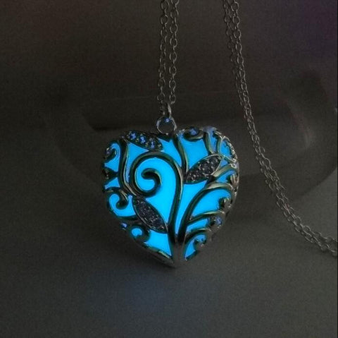 Night Luminous Heart Pendant Necklace
