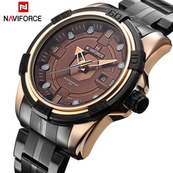 Men's NAVIFORCE Full Steel Military Watch