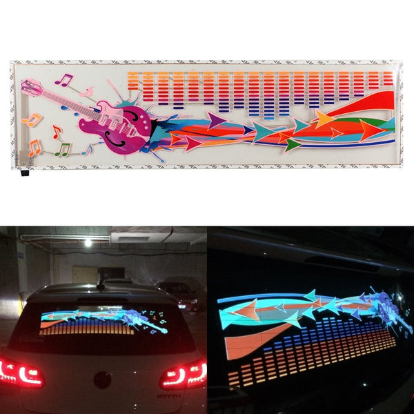 LED Music Activated Equalizer Car Sticker