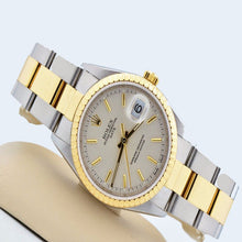 Mens Rolex Date Two Tone 18kt & Stainless Steel Oyster Band DateJust