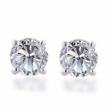 Diamond Earring Studs in 14kt Yellow or 14kt White Gold Gold Baskets for Pierced Ears Natural Genuine Diamonds 0.83pts Total Carat Weight