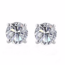 Diamond Earring Studs in 14kt Yellow or 14kt White Gold Gold Baskets for Pierced Ears Natural Genuine Diamonds 0.47pts Total Carat Weight
