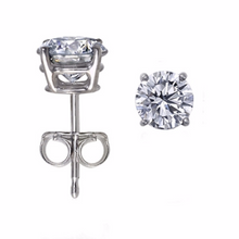 Diamond Earring Studs in 14kt White or 14kt Yellow Gold Gold Baskets for Pierced Ears Natural Genuine Diamonds 0.44pts Total Carat Weight