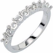 Anniversary Diamond Ring in 14kt White Gold 0.90pts