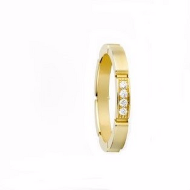 14kt Yellow Gold Diamond Wedding Band 4mm Design