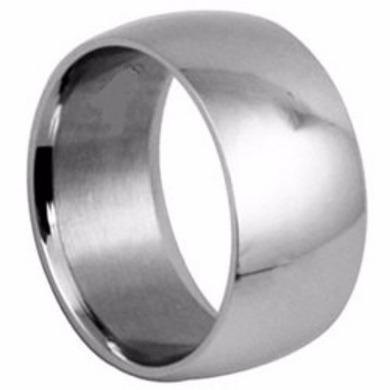 14kt White Gold Wedding Band Half Dome