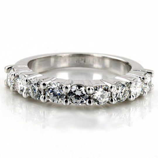 Diamond Anniversary Ring in 14kt White Gold 1.08cts