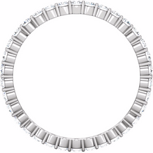 Eternity Ring 14kt White Gold Round Genuine Diamonds Anniversary Ring 0.50pts Size 3 4 5 6 7 8 9 Plus Half Sizes
