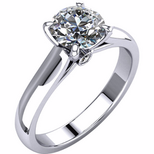 Round Diamond Solitaire 14kt White or Yellow Gold 0.50cts in Diamonds Available Sizes 3 - 9 and 1/4 sizes