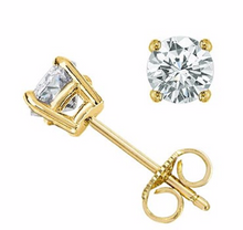 Diamond Earring Studs in 14kt White or 14kt Yellow Gold for Pierced Ears Natural Genuine Diamonds 0.48pts Total Carat Weight