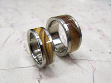 Exotic Wood Bands Pure Tungsten and Titanium Exotic Bethlehem Olive Wood His and Hers HandCrafted WEDDING Bands Any Size 4-17 & 1/4 sizes