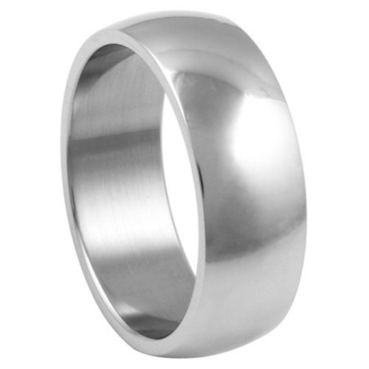 Silver Wedding Band Sterling 925 Polished Finish 8mm Custom Made Size 5 6 7 8 9 10 11 12 13 14 15