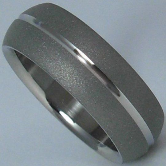 Titanium Comfort Fit Ring Custom Made Wedding Band Mens or Ladies Size 10 Satin Finished Dome