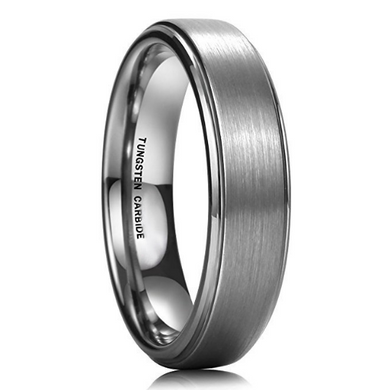 6MM Unisex Tungsten Ring High Polish Matte Finish Wedding Band Beveled Edge Sizes 6 6.5 7 7.5 8 8.5 9 9.5 10 10.5 11 11.5 12 12.5 1313.5 14