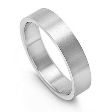 Silver Wedding Band Sterling 925 Matte Finish 6mm Custom Made Size 5 6 7 8 9 10 11 12 13 14 15